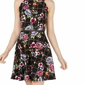 BCX Juniors 3 Floral Fit and Flare Dress K8-02
